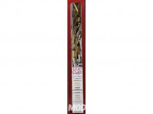 K&S 3408 Assortiment de laiton, cuivre, acier inoxydable et aluminium de differentes longeur