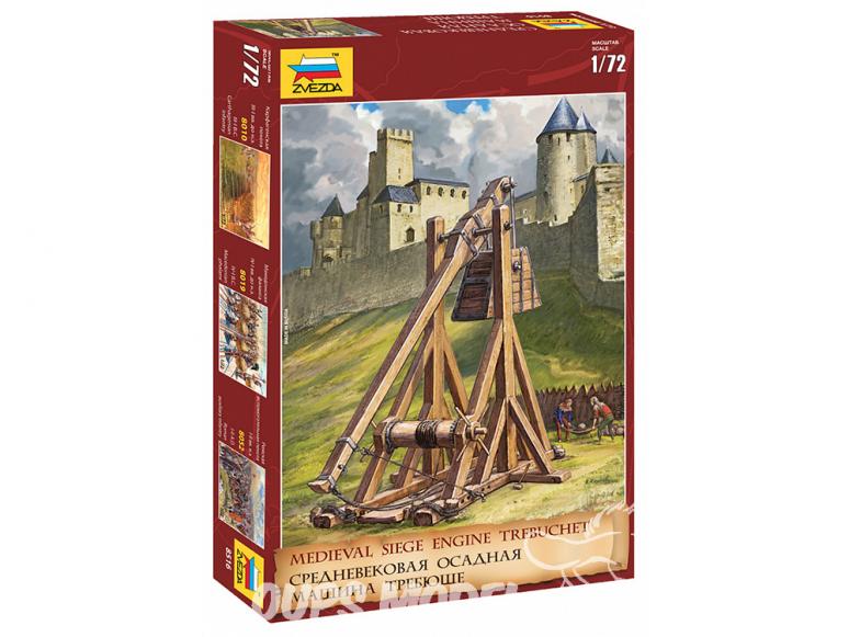 Zvezda maquette historique 8516 Machine de siège médiévale Trébuchet 1/72