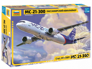 Zvezda maquette avion 7033 Irkout Avion de passagers MS-21-300 1/144