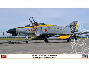 HASEGAWA maquette avion 02319 F-4EJ Kai Super Phantom «301SQ F-4 Final Year 2020» 1/72