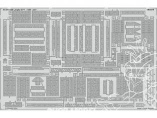 Eduard photodecoupe bateau 53254 Amélioration USS Langley CV-1 Trumpeter 1/350