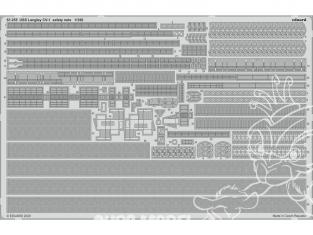 Eduard photodecoupe bateau 53255 USS Langley CV-1 Filets de sécurité Trumpeter 1/350