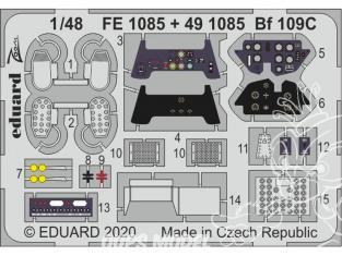 EDUARD photodecoupe avion FE1085 Zoom amélioration Messerschmitt Bf 109C Modelsvit 1/48