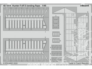 EDUARD photodecoupe avion 481014 Volets d'atterrissage Hunter F.4 / F.5 Airfix 1/48