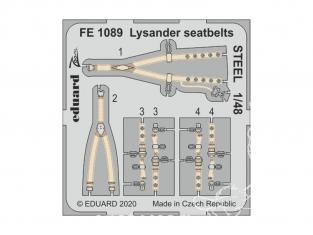 EDUARD photodecoupe avion FE1089 Harnais métal Lysander Eduard 1/48