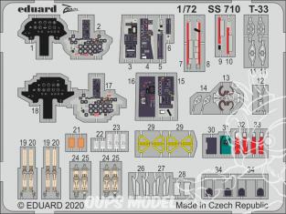 Eduard photodecoupe avion SS710 Zoom amélioration T-33 Platz 1/72