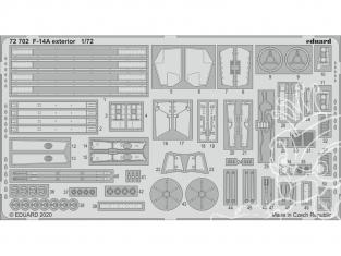 Eduard photodecoupe avion 72702 Extérieur F-14A Academy 1/72