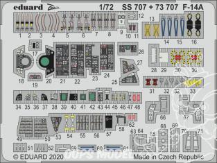 Eduard photodecoupe avion 73707 Amélioration F-14A Academy 1/72