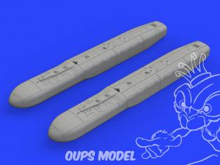 Eduard kit d'amelioration avion brassin 648551 JP233 Dispenser pod 1/48