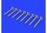 Eduard kit d'amelioration brassin 672238 HVAR Rockets / Roquettes HVAR 1/72