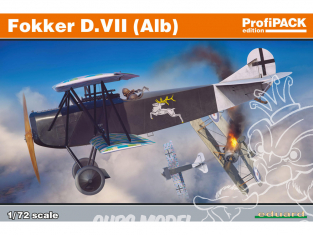 EDUARD maquette avion 70134 Fokker D.VII (Alb) ProfiPack Edition 1/72