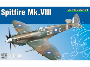 EDUARD maquette avion 84159 Spitfire Mk.VIII WeekEnd Edition 1/48