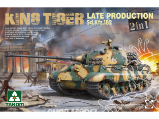 Takom maquette militaire 2130 King Tiger Late Production Sd.Kfz.182 1/35