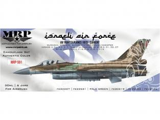MRP peintures S01 Set FORCE AÉRIENNE ISRAÉLIENNE 6 pots de 30ml