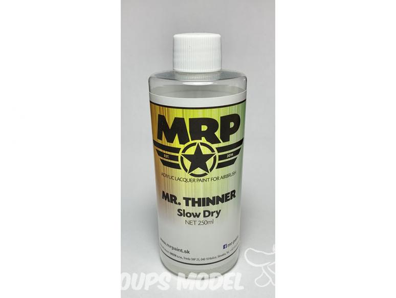 MRP peintures TSD Mr Thinner slow dry (séchage lent) 250ml