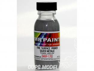 MRP peintures 170 Apprêt ARGENT MÉTALLIQUE à surface fine 60ml