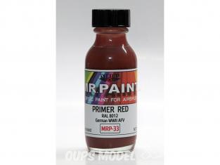MRP peintures 033 Apprêt rouge RAL 8012 30ml