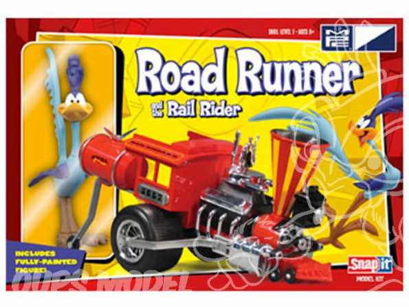 MPC maquette voiture 0720 Road Runner et sa locomotive Snap-It 1/25