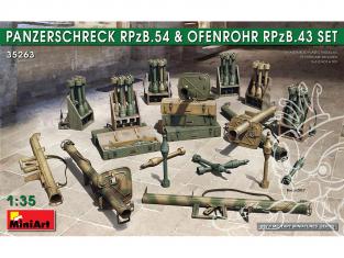 Mini Art maquette militaire 35263 Set PANZERSCHRECK RPzB.54 et OFENROHR RPzB.43 1/35