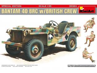 Mini Art maquette militaire 35324 JEEP BANTAM 40 BRC avec équipage Britaniques 1/35