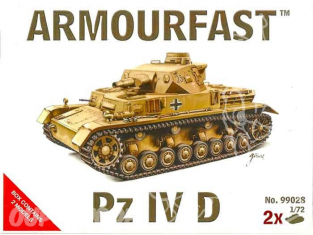 ARMOURFAST maquette militaire 99028 PANZER IV D 1/72