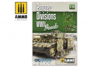 MIG Accessoires 8061 Décalques Divisions Panzer WWII 1/35