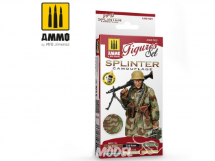 MIG peinture Figurines 7029 Set Splinter Camouflage 6 x 17ml
