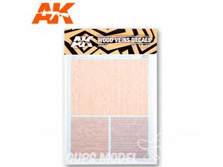 AK interactive ak9082 Décalques bois avec veines 1/32 - 1/35 - 1/48