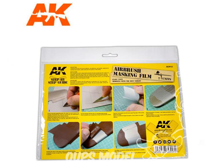 AK interactive ak9045 Feuille cache PVC A4 - Feuille de masquage PVC