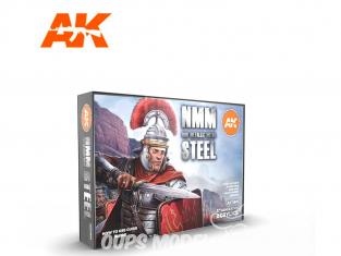Ak interactive peinture acrylique 3G Set AK11601 NMM Nom Mettalic Metal Acier 6 x 17ml