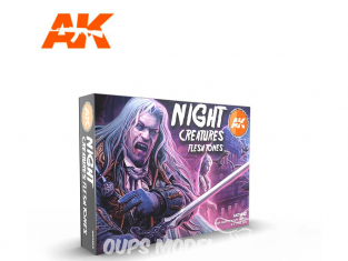 Ak interactive peinture acrylique 3G Set AK11602 Créatures Nocturnes Tons peau - chair 6 x 17ml