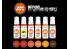 Ak interactive peinture acrylique 3G Set AK11604 Enfer et modèles rouges 6 x 17ml