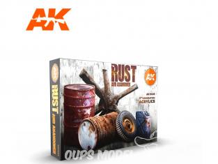 Ak interactive peinture acrylique 3G Set AK11605 Rouille 6 x 17ml