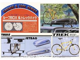 fujimi maquette accessoire voiture 11042 Velo Trek 8000 et coffre de toit 1/24