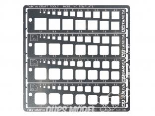 TAMIYA 74156 Gabarits de Gravure carré 1-10mm