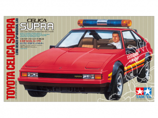 TAMIYA maquette voiture 24033 TOYOTA CELICA SUPRA LONG BEACH GP MARSHAL CAR 1/24