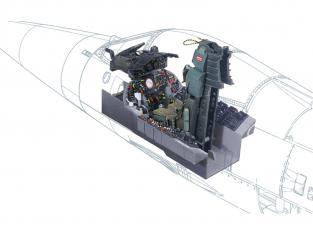 Italeri maquette avion 2991 F-104 G COCKPIT 1/12