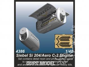 Cmk kit d'amelioration 4386 Moteur Siebel Si 204 / Aero C-3 1/48
