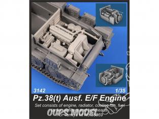 CMK kit resine 3142 Pz.38 (t) Ausf.E / F Ensemble moteur pour Tamiya 35369 1/35