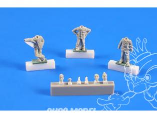 Cmk figurine F72248 U-boot U-IX - Équipage revenant d'une Campagne. I (3 figurines) 1/72