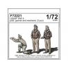 Cmk figurine F72221 USAAF WW II pilote, tireur et mécanicien (3 pièces)1/72