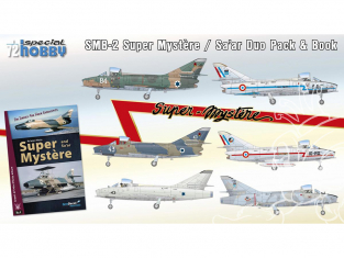 Special Hobby maquette avion 72417 Duo Pack et livre SMB-2 Super Mystere / Sa'ar 1/72