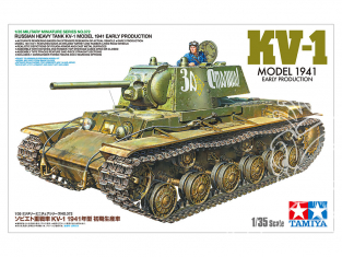 TAMIYA maquette militaire 35372 Char Lourd Ruse KV-1 1/35