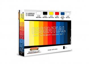 Lifecolor set de peintures ES01 couleurs basique et primaires set 1 6pots de 22ml