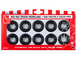 AMT maquette voiture PP023 Pack de pièces de pneu de camion Big Rig 1/25