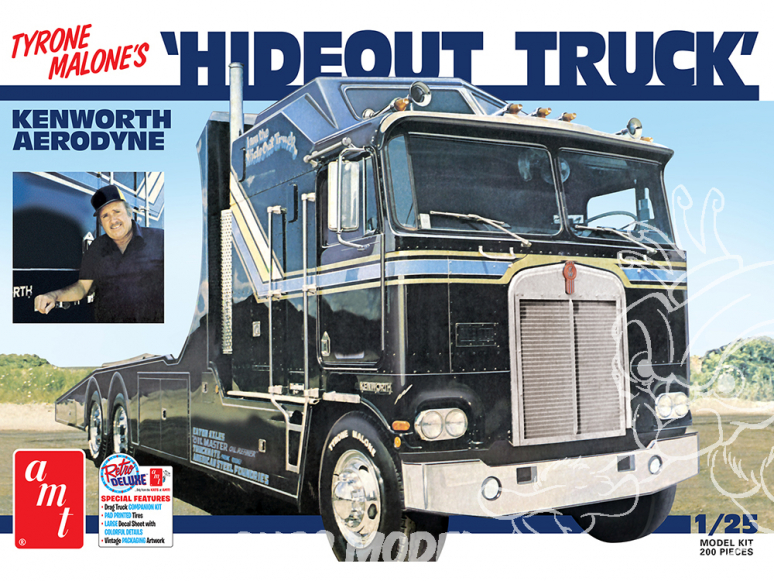 AMT maquette camion 1158 Hideout Truck Kenworth Aerodyne (Tyrone Malone's) 1/25