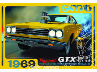AMT maquette voiture 1180 1969 Plymouth GTX Hardtop Pro Street 1/25