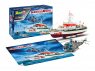 "revell maquette bateau 05683 Model Set DGzRS Berlin + Sea King ""Good Bye Set"" 1/72"