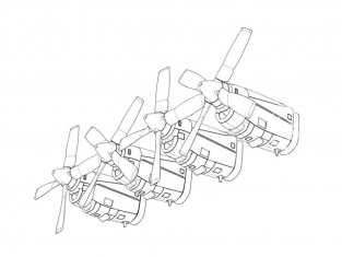 Brengun kit d'amelioration avion BRL48125 Ensemble moteur C-130 E-H kit Italeri 1/48