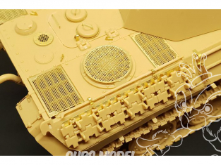 Hauler accessoires diorama HLX48396 kit amelioration Panther Ausf.D GRILLES (Tamiya kit) 1/48
